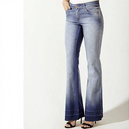 Calça jeans flare com elastano scalon  alice