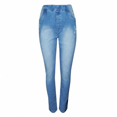 Calça jeans conic skinny high performance dimy