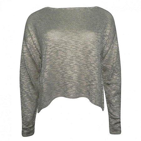 Blusa tricot leve detalhe costas viviane furrier