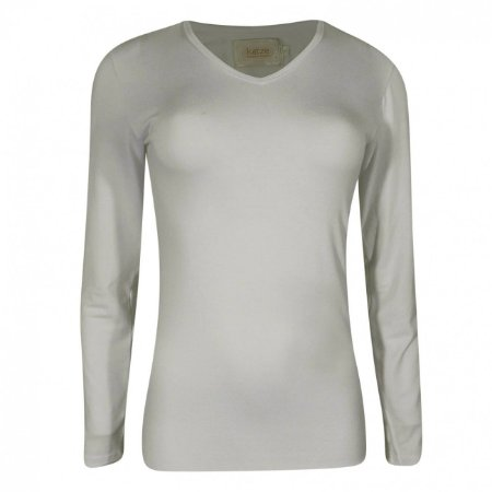 Blusa viscolycra básica katze cor off white