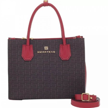 Bolsa de mão em couro lezard com alça transversal smartbag