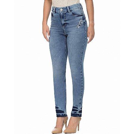 Calça jeans skinny ana barra desfeita scalon by ana botafogo