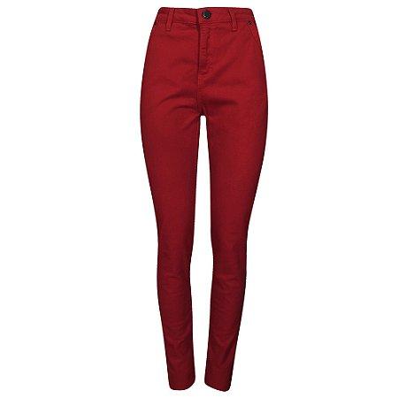 Calça skinny sarja vermelha reserva natural