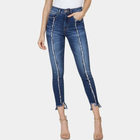 Calça jeans cigarrete aruba flat belly lez a lez