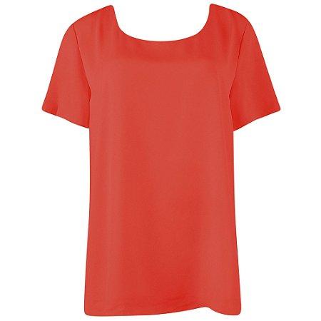 Blusa em crepe laranja cotton colors extra - tamanhos grandes