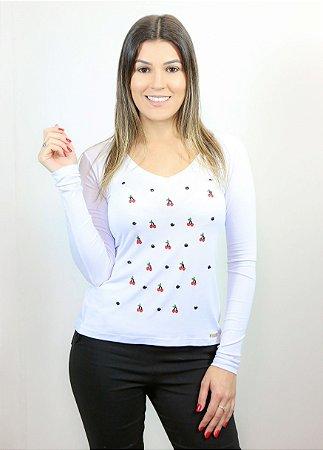 T-shirt feminina branca P