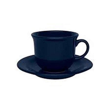 Conjunto de Chá 12pçs Denim Floreal