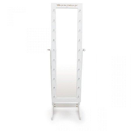 Espelho armario para bijoux led beleza