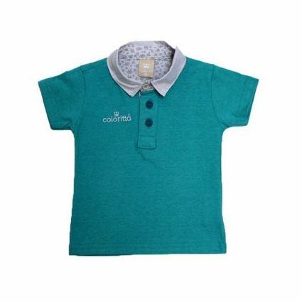 Camisa Polo Manga Curta Bordado Coloritta 17924