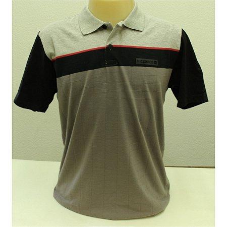 Camisa Polo Slim Fit Manga Curta Nicoboco 61508