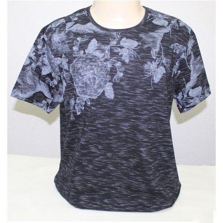 Camiseta Flamê Prime Slim Fit Manga Curta Estampa Floral SVK 1230448
