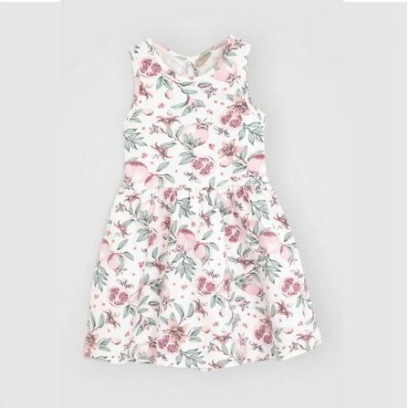 Vestido Floral Sem Manga Milon 12389