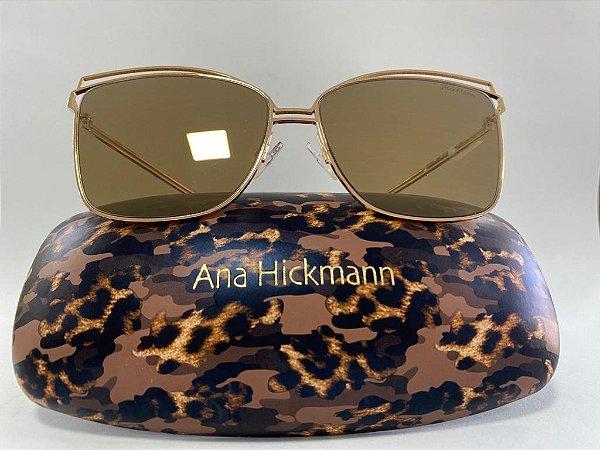 Óculos Solar Hickmann Espelhado Dourado em Metal