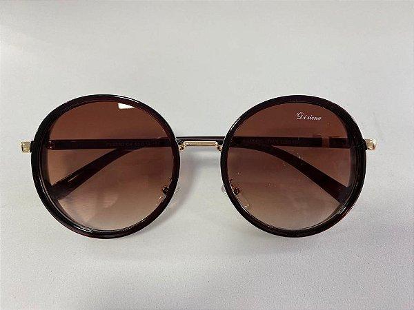 Óculos Solar Di Siena com detalhes lateral em gliter dourado
