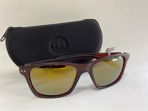 Óculos Solar Semi-Espelhado Marrom HB