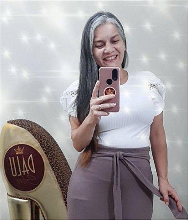 Blusa canelada Dalu