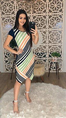 Vestido Listras -Puro Sharmy