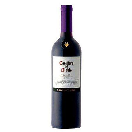 VINHO MERLOT CASILLERO DEL DIABLO 750ML