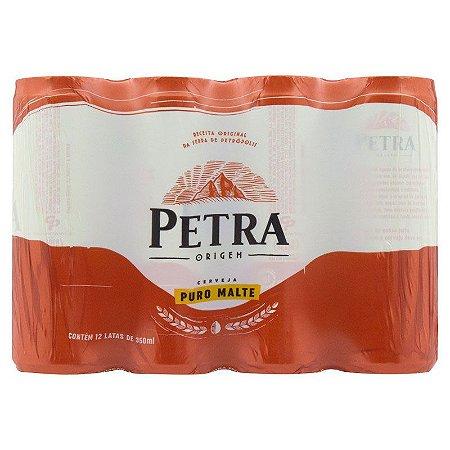 CERVEJA PETRA LATA 350ML FARDO COM 12 UN
