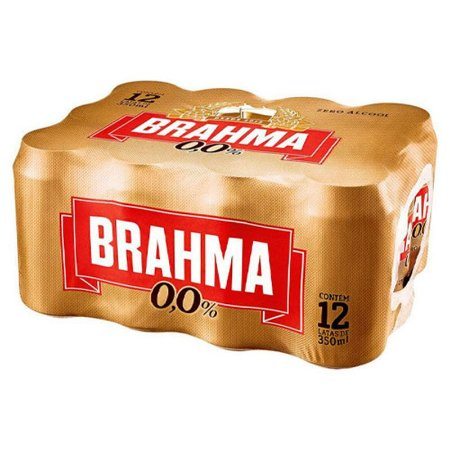CERVEJA SEM ALCOOL BRAHMA LATA 350ML C/12UN