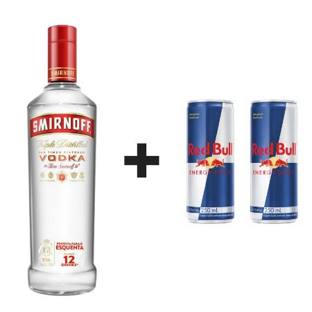 KIT 1 SMIRNOFF 998ML + 2 RED BULL LATA 250ML