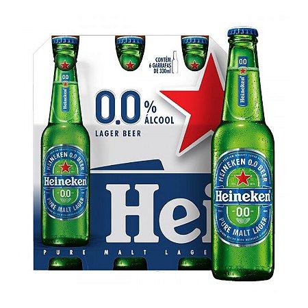 CERVEJA SEM ALCOOL HEINEKEN L NECK 330ML C/ 6 UN