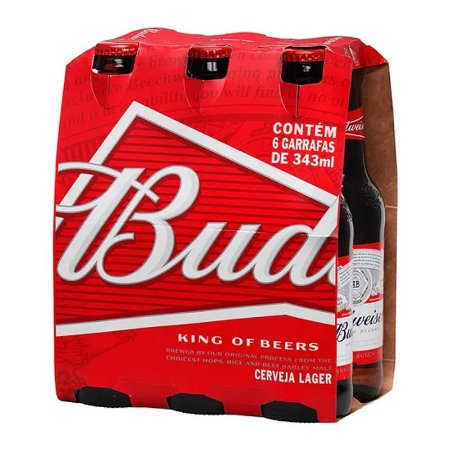 CERVEJA BUDWEISER LONG NECK 343ML C/6 UN