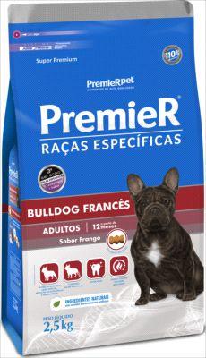 Premier Pet Cães Adultos BullDog Sabor frango 2,5 Kg
