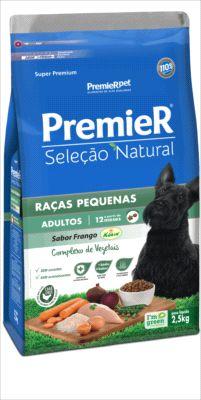 Premier Seleção Natural Cães Adultos Raça Peq. Sabor frango - 2,5kg