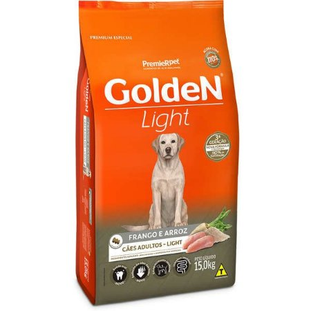 Golden Formula Cães Adulto Light Frango e Arroz 15kg