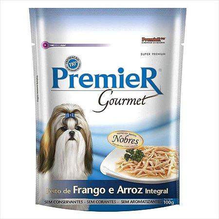Premier Sachê Gourmet Para Cães sabor Peito de Frango e Arroz integral 100g
