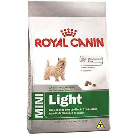 Royal Canin Mini Light para Cães Adultos de Raças Pequenas com Tendência a Obesidade 2,5KG
