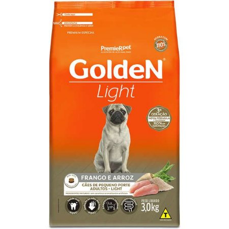 Golden Formula Cães Adulto Light Mini Bits 3Kg