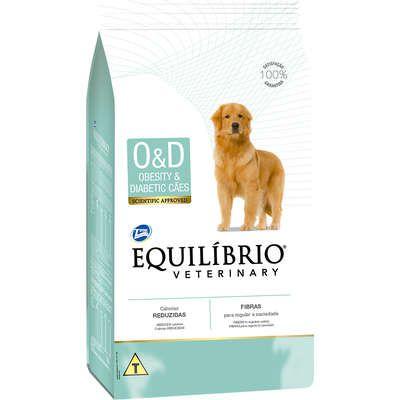 EQUILÍBRIO VETERINARY DOG O&D OBESITY E DIABETIC 7,5KG