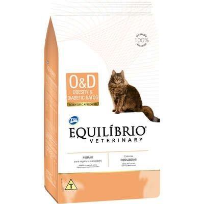 EQUILÍBRIO VETERINARY GATO OBESITY E DIABETIC 500G