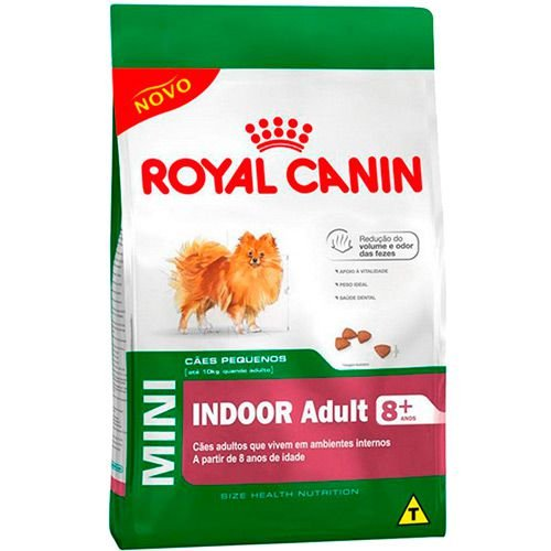 Royal Canin Mini Indoor 8+ Cães Adultos 2,5KG