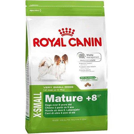 Royal Canin X-Small Adulto 8+ para Cães Adultos e Idosos de Porte Miniatura 1KG