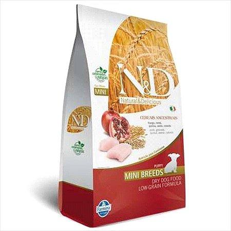 N&D Ancestral Grain para Cães Filhotes de Raças Pequenas Sabor Frango e Romã 800G
