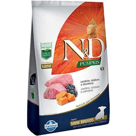 N&D Pumpkin Cordeiro para Cães Filhotes de Raças Pequenas 2,5KG