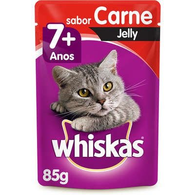 WHISKAS ADULTO SACHE 7+ CARNE JELLY 85G