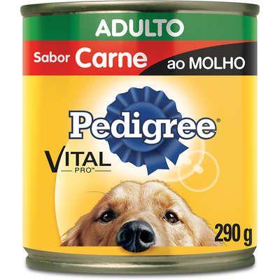 PEDIGREE LATA CARNE AO MOLHO 290G