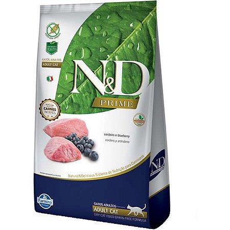 N&D Prime Cordeiro e Blueberry Gatos Adultos 400G