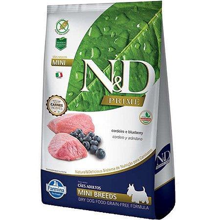 N&D Prime Cordeiro e Blueberry Cães Adultos Raças Pequenas 2,5KG