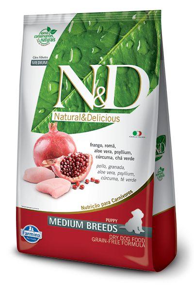 N&D Grain Free Para Cães Filhotes de Raças Médias Sabor Frango 2,5KG