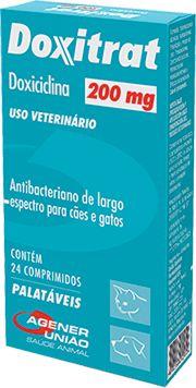 Antibiótico Doxitrat Caixa com 24 Comprimidos 200MG
