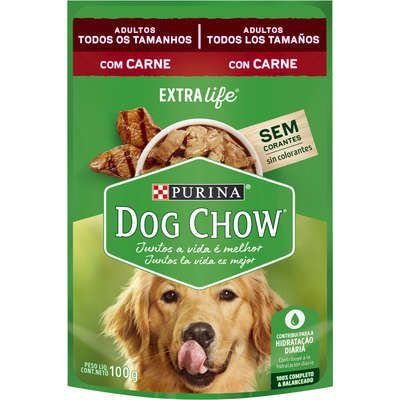 SACHÊ DOG CHOW ADULTO CARNE E ARROZ 100G
