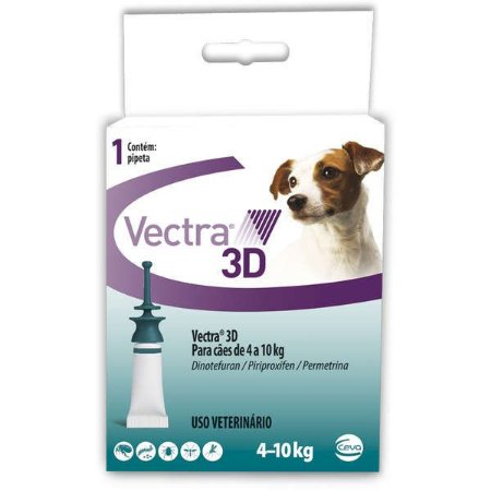 Vectra 3D Cães 4 A 10 Kg - 16 ML