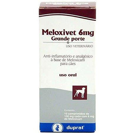 Anti-Inflamatório Duprat Meloxivet 10 Comprimidos para Cães de Grande Porte 6MG