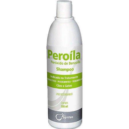 Shampoo Dermatológico Syntec Peroíla para Cães e Gatos 500ML