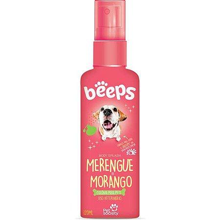 Deo Colônia Beeps Body Splash Pet Society Merengue de Morango 120ML